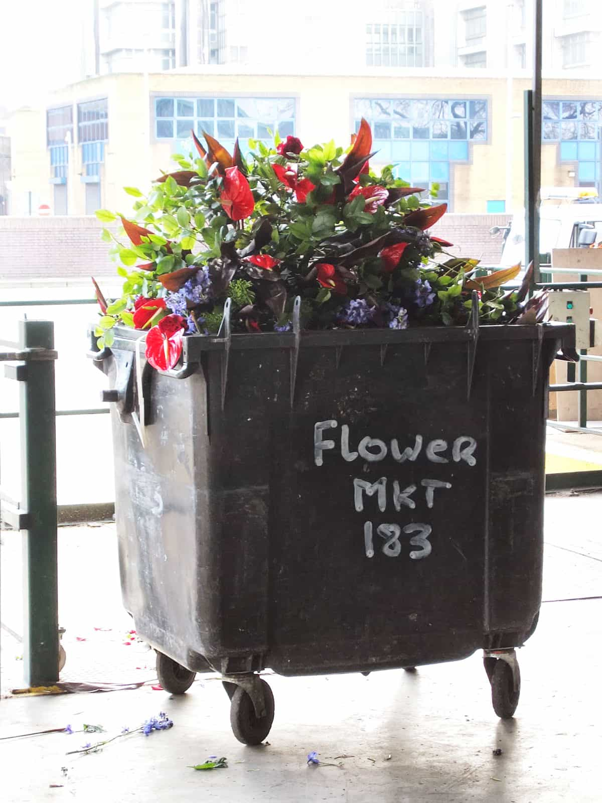 Flowers in bin, what florists do with unsold flowers