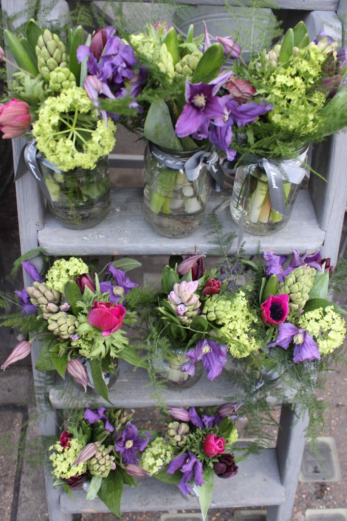 Liberties flower stand, Liberties, anemone, hyacinth, Nikki Tibbles Wild at Heart
