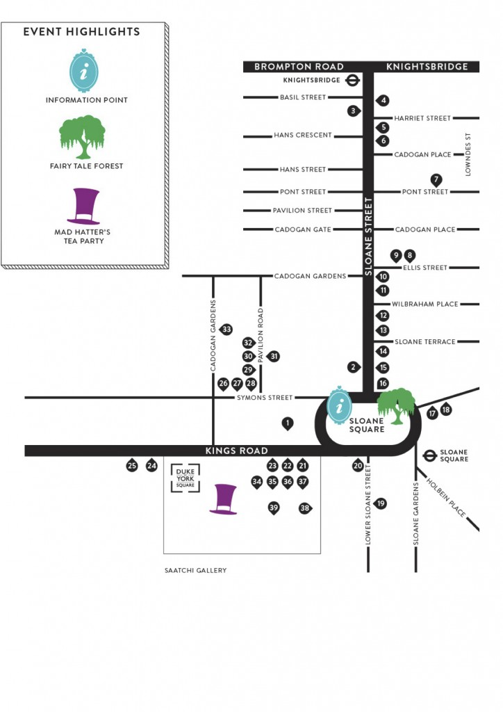 Tours, Chelsea In Bloom 2015 map