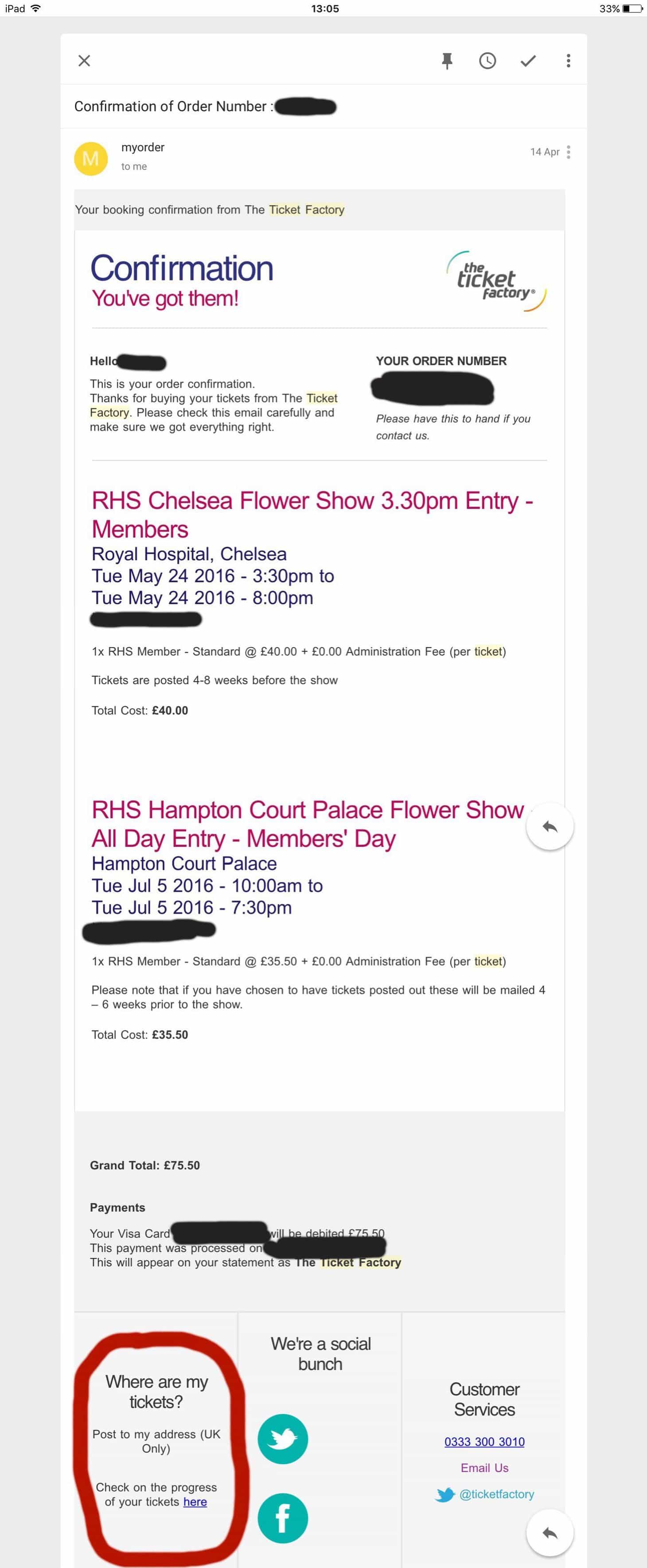 lost ticket, reclaim your rhs ticket, how to get a replacement of your chelsea flower show