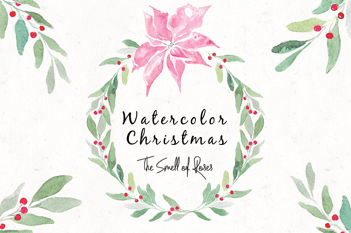 free christmas watercolour flowers and wreaths free clip art xmas images christmas images